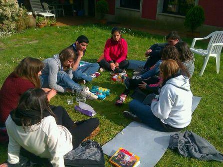Sesión de traballo do Kraal de scouters durante as Xornadas