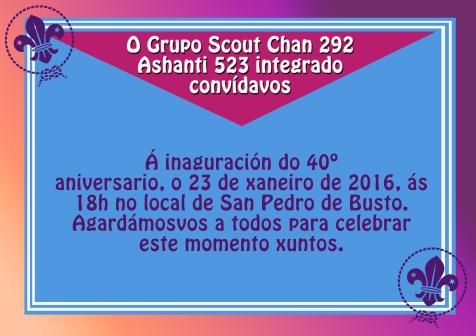 invitación 40 aniversario